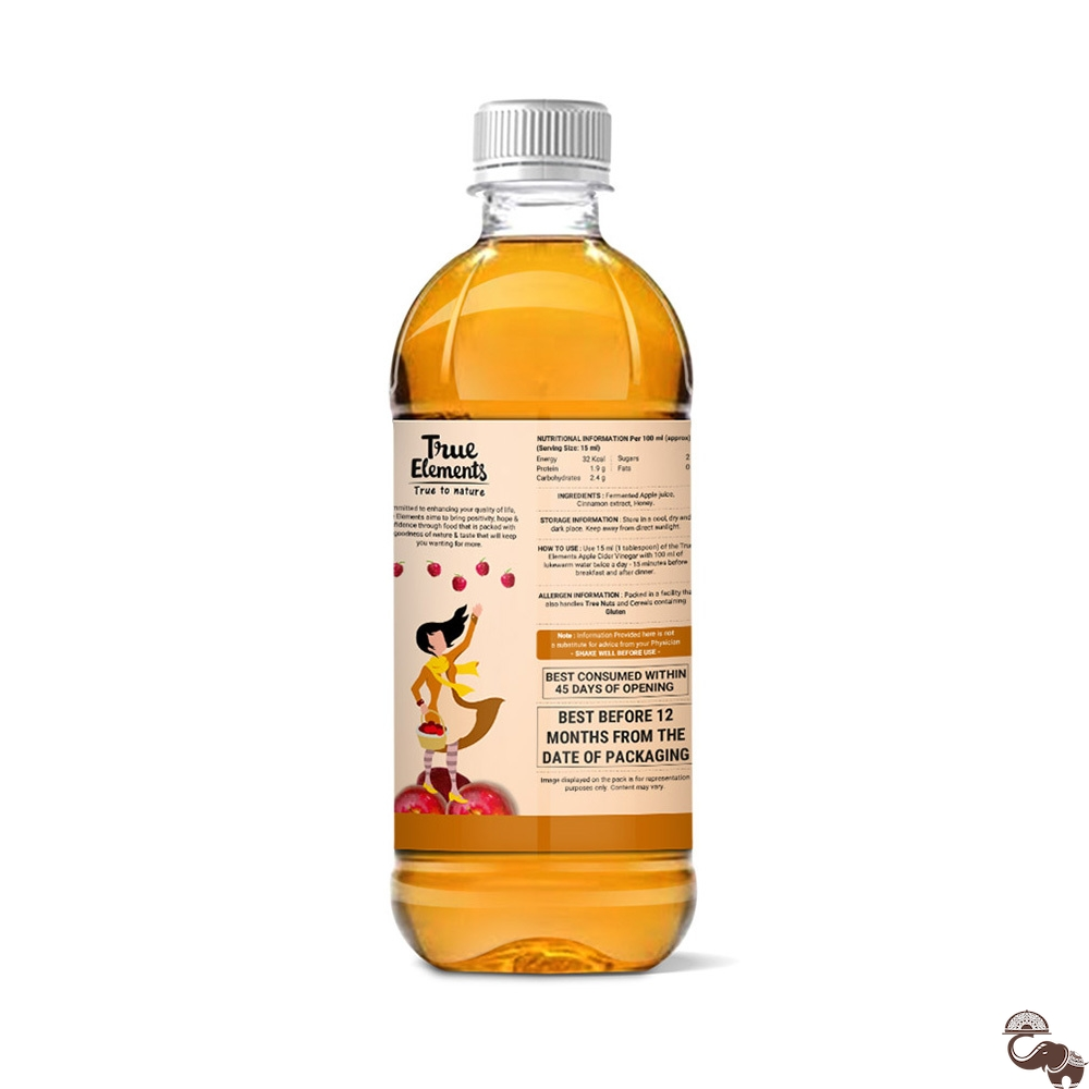 Buy 500 ml Apple cider vinegar with Cinnamon and Honey by True Elements  from Pune, Maharashtra