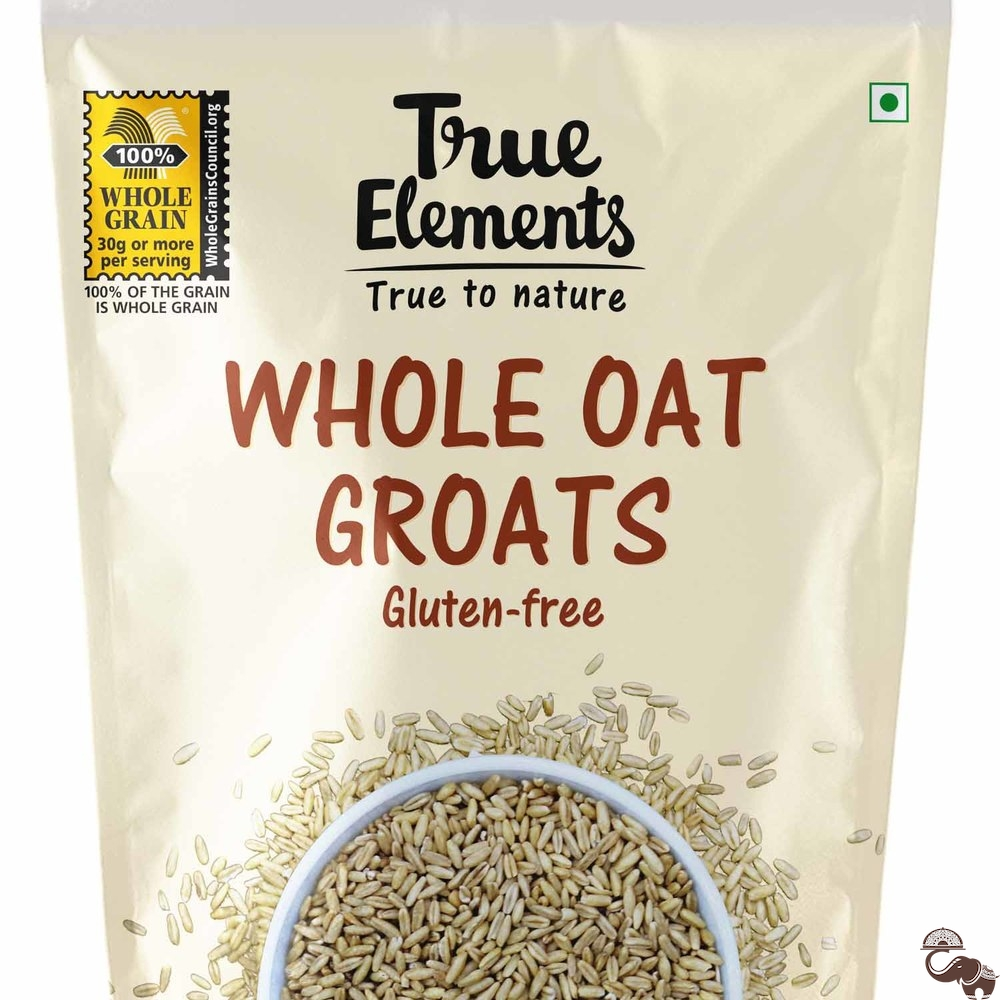 True Elements Whole Oat Groats 1 kg