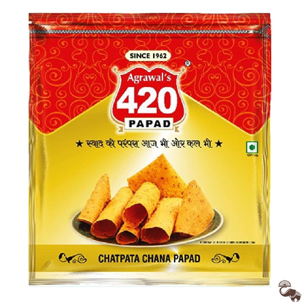Buy 400 Gms Chana Chatpata Papad By Agrawal S 420 Papad